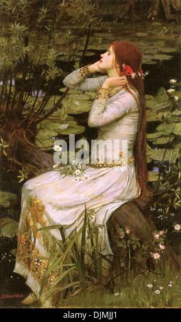Ophelia by John William Waterhouse - Stock Photo