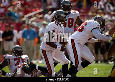 Sep. 26, 2010 - Tampa, Florida, United States of America -  Tampa Bay Buccaneers quarterback Josh Johnson (11) with - Stock Photo