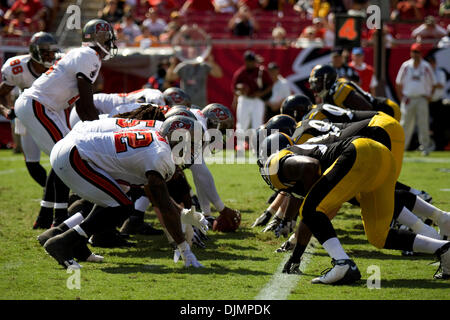 Sep. 26, 2010 - Tampa, Florida, United States of America - Tampa Bay Buccaneers host the Pittsburgh Steelers at - Stock Photo
