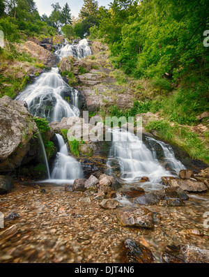 Todtnauer Waterfalls, Black Forest, Germany - Stock Photo