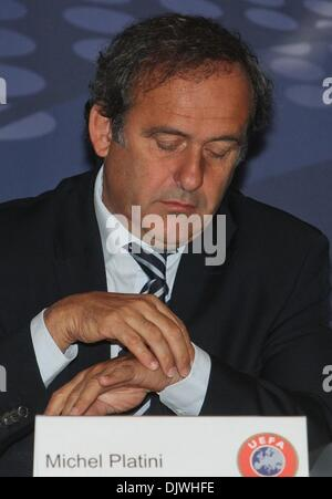 Oct 04, 2010 - Minsk, Belarus - UEFA President MICHEL PLATINI is taking part in the Union of European Football Associations, - Stock Photo