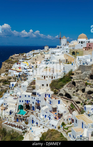Traditional houses in Oia - Stock Photo