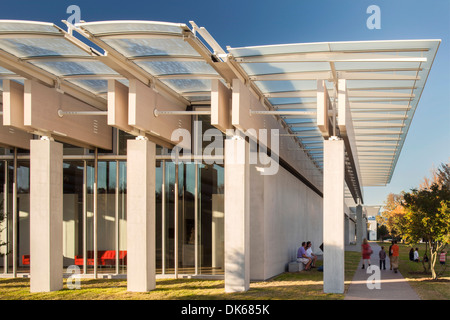 Kimbell Art Museum Renzo Piano Expansion, Fort Worth, United States. Architect: Renzo Piano Building Workshop, 2013. - Stock Photo