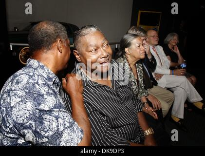 Aug. 19, 2011 - Memphis, TN, U.S. - August 19, 2011 - Skip Pitts (center) during the unveiling of an Academy Award - Stock Photo