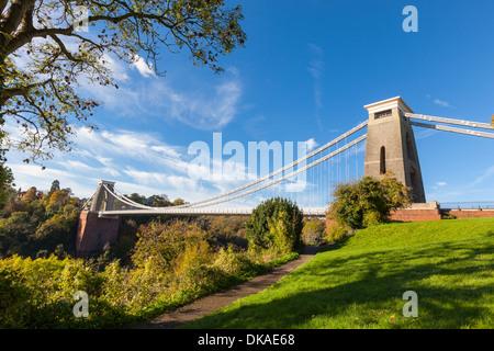 Clifton Suspension Bridge in Bristol, England - Stock Photo
