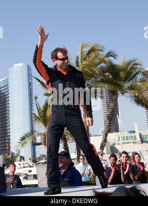 May 10, 2009 - San Diego, California, USA - NICOLAS IVANOFF from France winner of the 2009 Red Bull Air Race in - Stock Photo