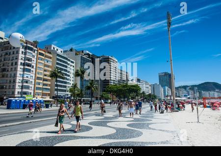 Famous Copacabana, Rio de Janeiro, Brazil, South America - Stock Photo