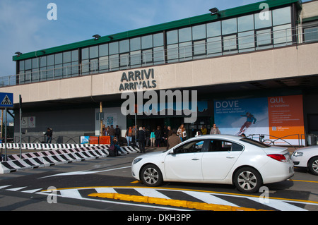 Arrivals hall exterior Bergamo airport northern Italy Europe - Stock Photo