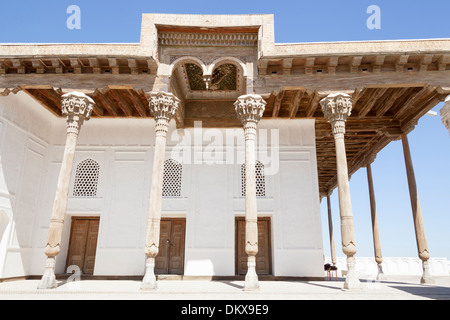 The Jome Mosque, in the Ark Fortress, Registan Square, Bukhara, Uzbekistan - Stock Photo