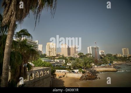 Dakar, Senegal skyline - Stock Photo