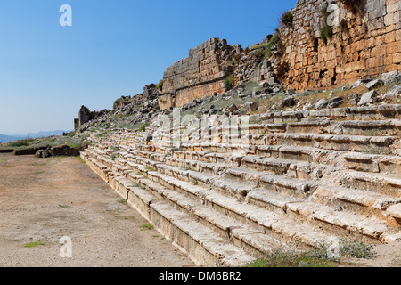 Stadium, ancient city of Tlos in the Xanthos Valley, Muğla Province, Lycia, Aegean, Turkey - Stock Photo