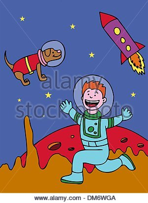 Space Kid - Stock Photo