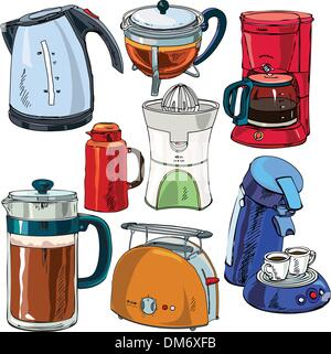 kitchen things vector - Stock Photo