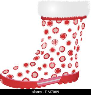 pink rubber boot - Stock Photo
