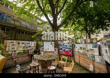 Heygate Estate remains derelict in south London, UK. - Stock Photo