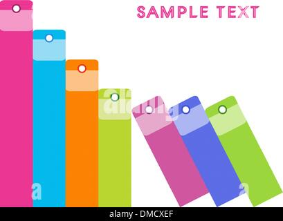 An Illustration of Colorful Office Folders Background - Stock Photo
