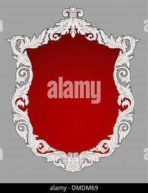 Vintage decorative floral frame illustration - Stock Photo