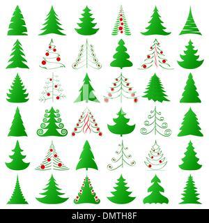Christmas trees - Stock Photo