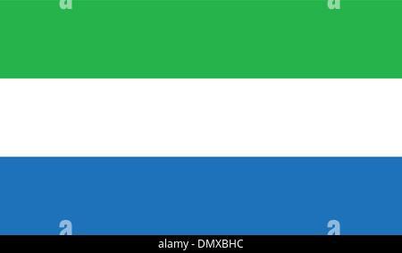 Sierra Leone Flag - Stock Photo