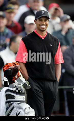 Jan 29, 2006; La Jolla, CA, USA; GOLF: TIGER WOODS on the 1st hole during the Buick Invitational 2006. Mandatory - Stock Photo