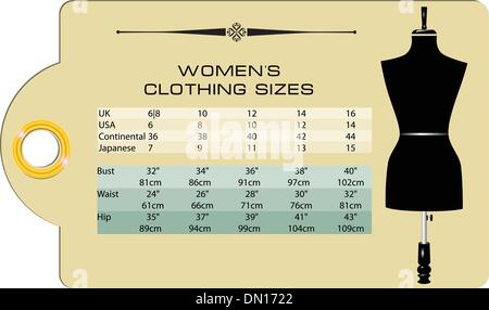 Women is clothing size - Stock Photo