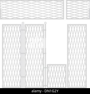 High sectional fence - Stock Photo