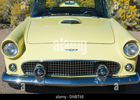1956 Ford Thunderbird, Santa Fe, New Mexico USA - Stock Photo