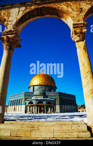 Dome of the Rock mosque in Jerusalem, Israel - Stock Photo