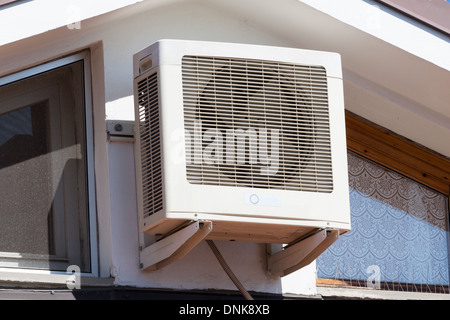 air compressors are located on the last roof floor - Stock Photo