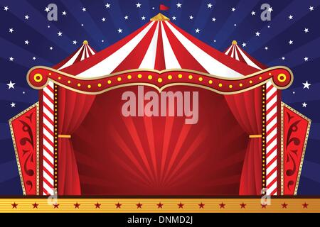 A vector illustration of a circus background - Stock Photo
