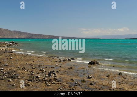 Lake Goubhet, Djibouti, Horn of Africa - Stock Photo