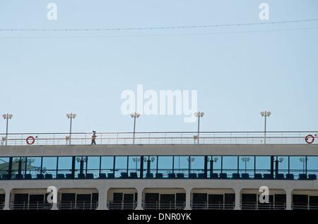 jogging on board - Stock Photo