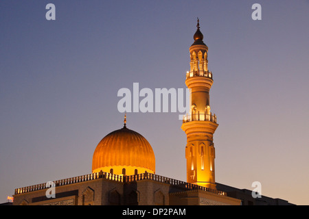 Al-Zawawi mosque in Muscat, Oman, at dusk - Stock Photo