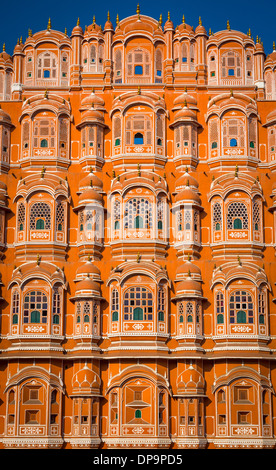 """Hawa Mahal ('Palace of Winds' or """"Palace of the Breeze""""), is a palace in Jaipur, India - Stock Photo"""