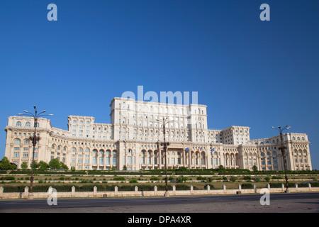 Palace of Parliament, Bucharest, Romania - Stock Photo
