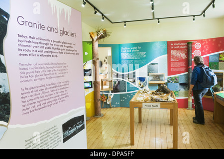 Interior of the visitor centre at Burn o' Vat, near Dinnet, Deeside, Aberdeenshire, Scotland. - Stock Photo