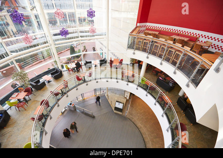 General view of the oracle shopping centre in Reading - Stock Photo