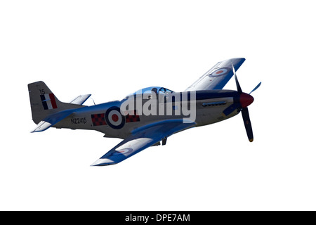 Cutout of P-51 Mustang - American Fighter Plane - Stock Photo