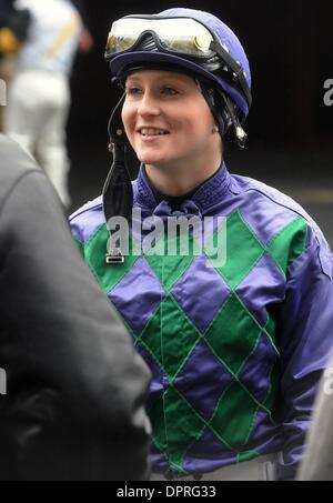 Mar 26, 2009 - Queens, New York, USA - Jockey ANNA ROSE 'ROSIE' NAPRAVNIK in the paddock before the 3rd race at - Stock Photo