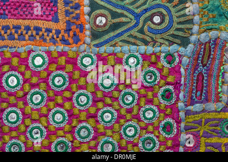 India, Rajasthan, Jodhpur, Rajasthani textile - Stock Photo