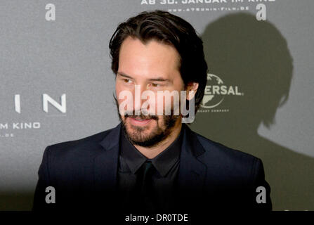 Munich, Germany. 17th Jan, 2014. Canadian actor Keanu Reeves stands during a photo session for the new movie '47 - Stock Photo