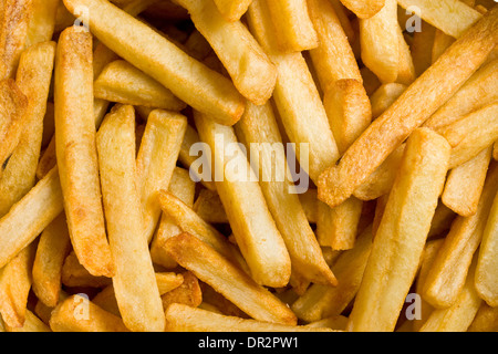 close up of fried french fries - Stock Photo