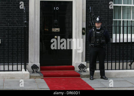 Apr 01, 2009 - London, England, United Kingdom - Residence of the British Prime Minister - 10 Downing Street. (Credit - Stock Photo