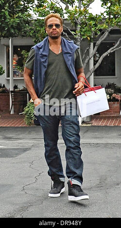 Actor Gary Dourdan seen shopping at Fred Segal on Melrose Avenue Los Angeles, California - 14.06.13  Featuring: - Stock Photo