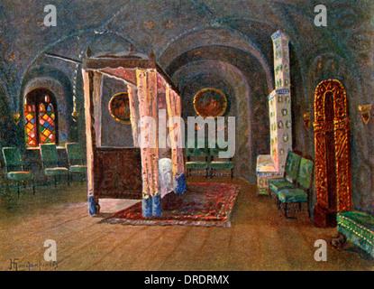 Tsar's Bedchamber, Terem Palace, Moscow, Russia - Stock Photo