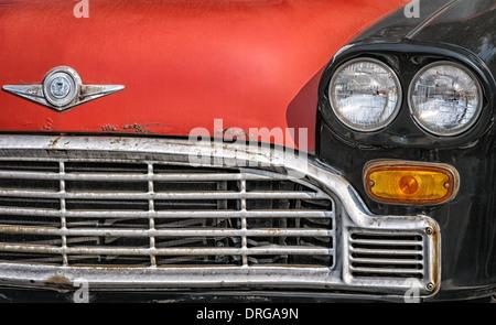 Red Top Checker Marathon Cab, Falls Church, Virginia - Stock Photo