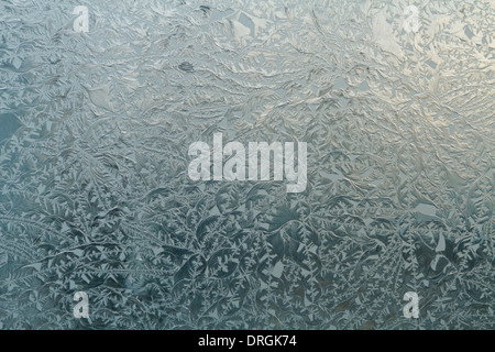 Close up of glass facade panel with relief of frost effect. - Stock Photo