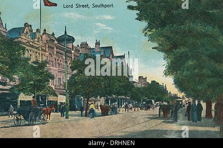 Lord Street, Southport, Merseyside, England - Stock Photo