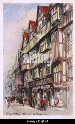 Staple Inn - High Holborn, London, England - Stock Photo