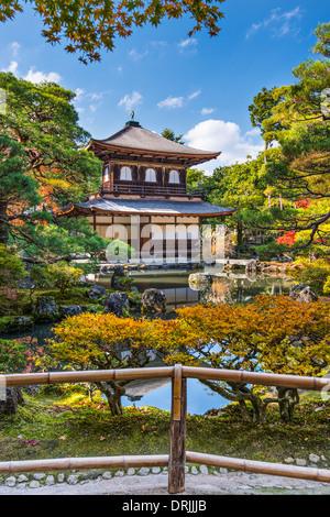 Ginkaku-ji Silver Pavilion during the autumn season in Kyoto, Japan. - Stock Photo